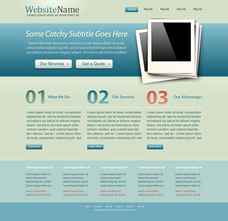 website template vintage colors photo