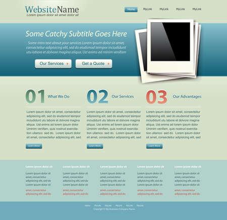 website template vintage colors photo