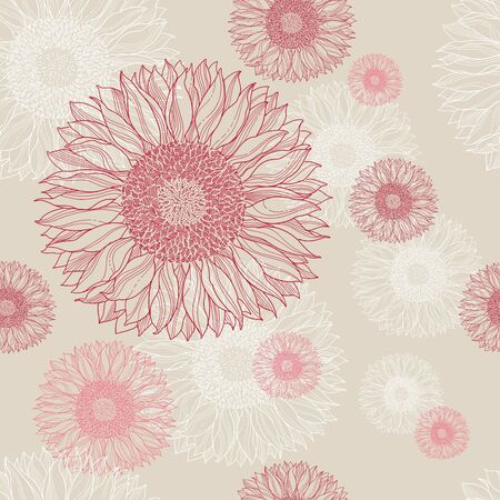 vintage floral seamless background Illustration