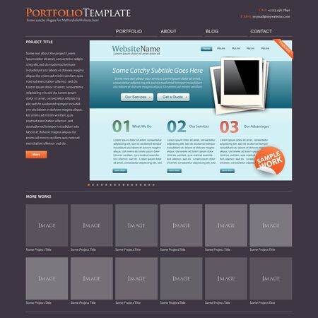 website template portfolio + bonus modern website layout is included Stock Vector - 9931259