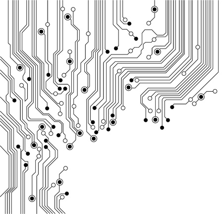 electronic board: circuit board background texture - isolated - vector is available