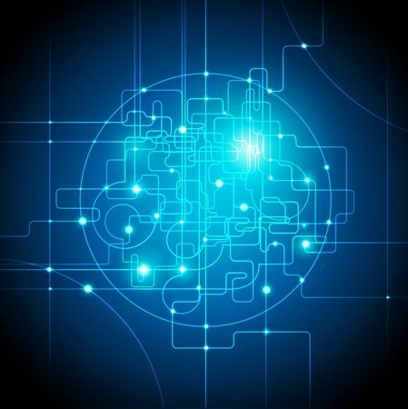 noyau: concept de connexions internet global contexte abstrait