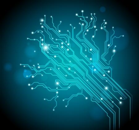 circuit bord boom - creatieve afbeelding Stockfoto