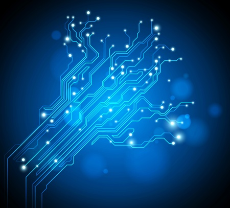 circuit board tree - creative graphic Фото со стока - 9950714