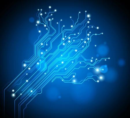 circuitos electricos: placa de circuito �rbol - gr�fico creativo Foto de archivo