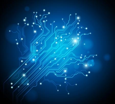 chip: vector fondo abstracto de alta tecnolog�a Foto de archivo