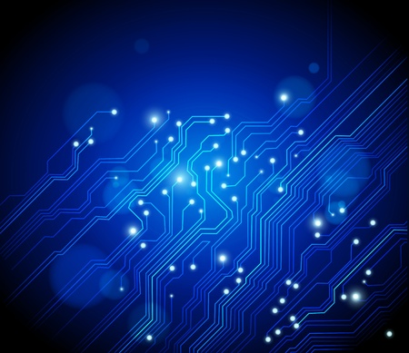 electronic circuit board: high tech vector background with circuit board texture