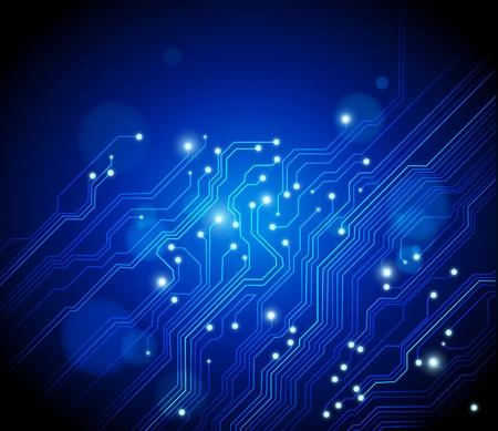 electrical circuit: sfondo vettoriale ad alta tecnologia con texture di circuito stampato