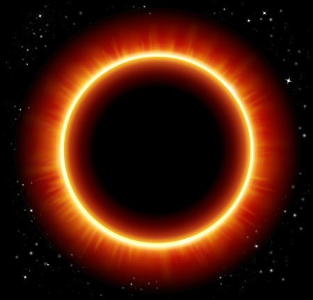 flares: vector space background and solar eclipse