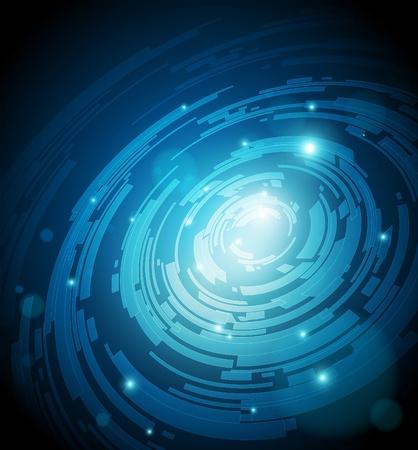 디지털: 미래 첨단 기술 디자인에 대 한 추상적 인 배경 - 벡터