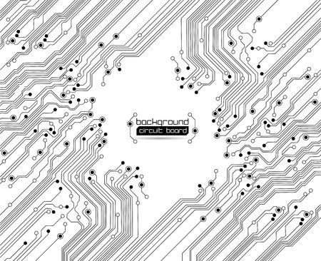 circuitos electronicos: textura de fondo de la placa de circuito impreso Vectores