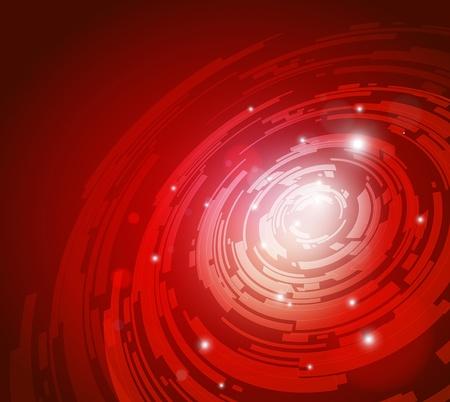 Résumé de fond rouge pour la conception de haute technologie futuriste - vecteur Vecteurs