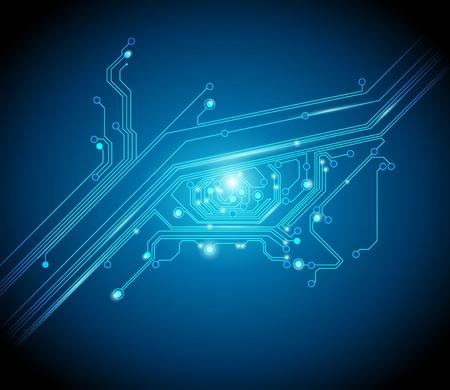 circuitos electronicos: placa de circuito de fondo del ojo conceptual