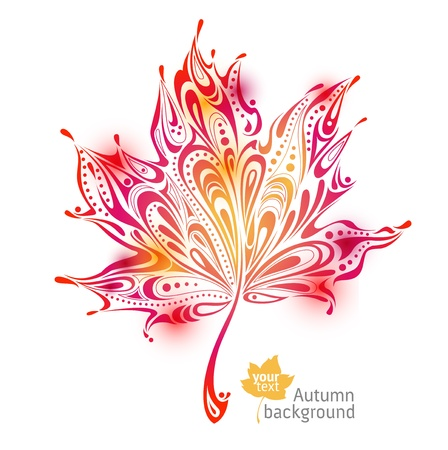 abstract autumn leaf background Illustration