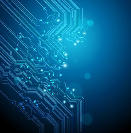 placa de circuito de fondo azul Ilustración de vector