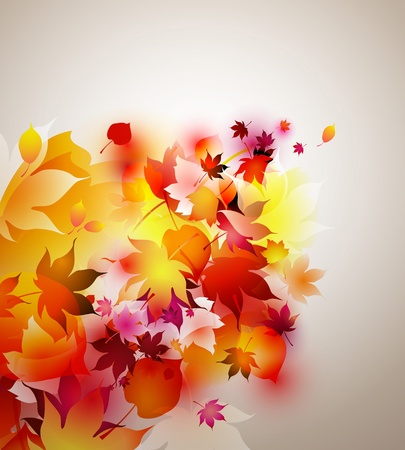 autumn background - abstract colorful Stock Vector - 10860659