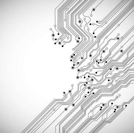 abstract digital technology background with circuit board texture Vector