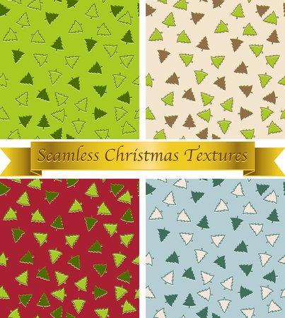 styled: Christmas seamless vintage patterns textures - vector Illustration