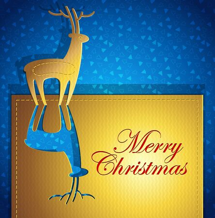 Creative Christmas greeting card - paper art - vector illustration Stock Vector - 11081844