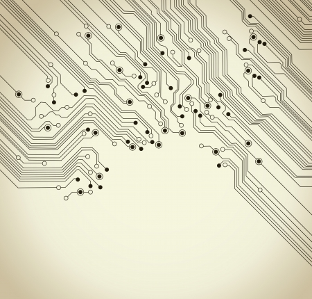 printed circuit board: circuit board background texture - vector illustration Illustration