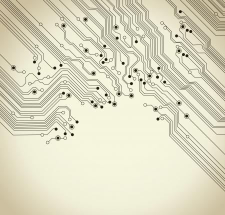 La texture de fond de circuit conseil d'administration - illustration vectorielle Banque d'images - 11081848