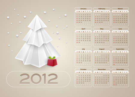 calendar design layout 2012 - week starts with sunday - vector Vector