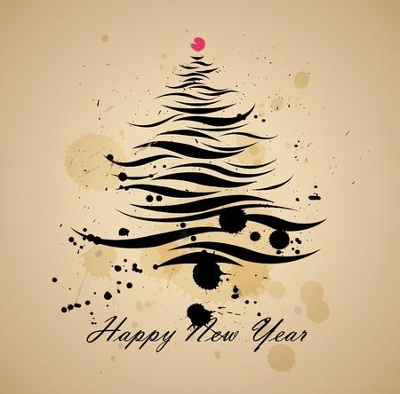 Christmas tree grunge background