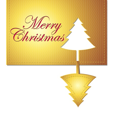 christmas trendy golden banner design element Stock Vector - 11578458