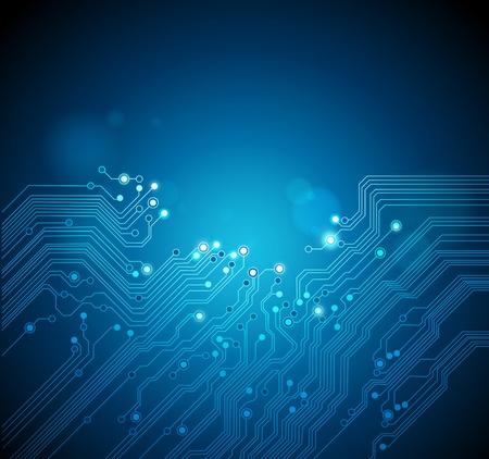 Carte de circuit imprimé de fond technologie vecteur Banque d'images - 11578469