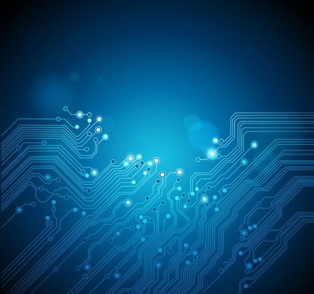 circuit board vector technology background