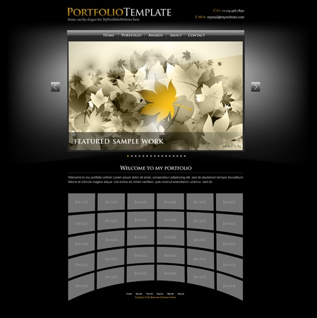 web site: creative website portfolio template for designers and photographers - editable vector Illustration