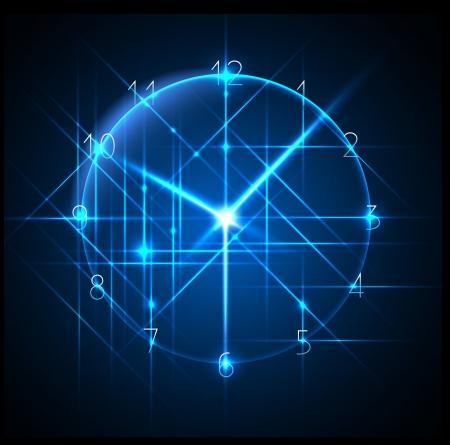 el negocio en tiempo - reloj de fondo abstracto - vector conceptual