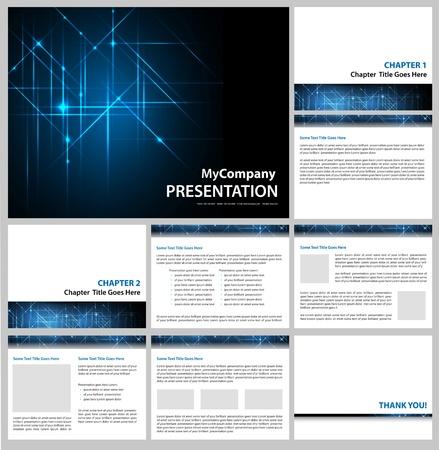 headed: modello di presentazione - azienda commerciale di design slide show - vettoriale modificabile