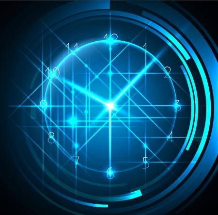 abstracte blauwe achtergrond met klok - ideaal voor zakelijke ontwerpen