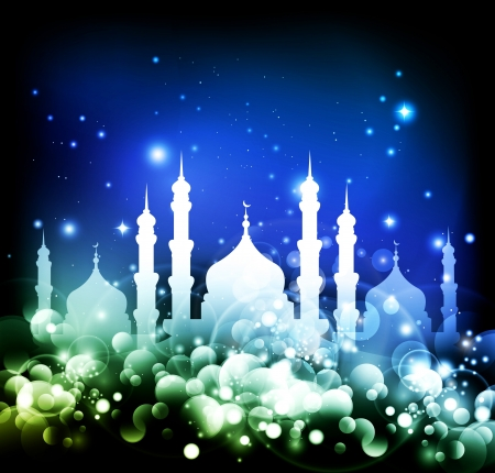Abstraite religieuse Eid fond Banque d'images - 14176233
