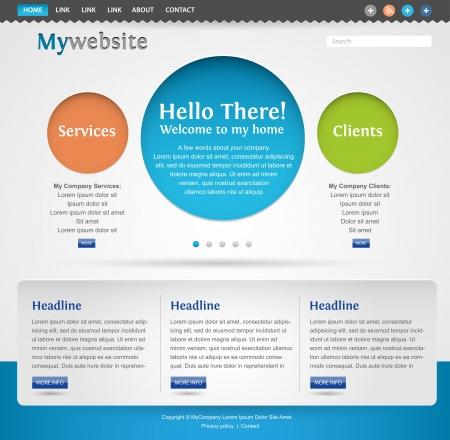 Moderne, creatieve website template design Stockfoto - 14176226
