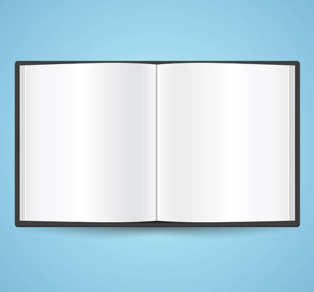 blank book cover: open book icon Illustration