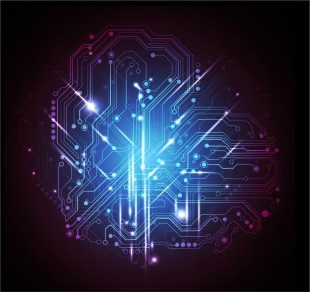 Abstrait technologie de circuit conseil d'administration Banque d'images - 14176303