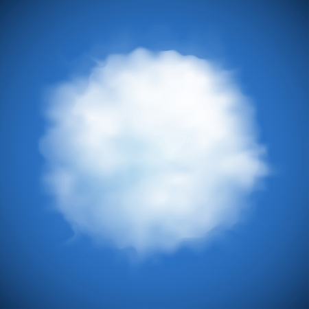 cloud background: cloud circular shaped cheerful background
