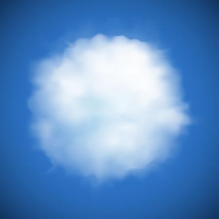 nubes cielo: nube circular de fondo alegre, en forma de Vectores