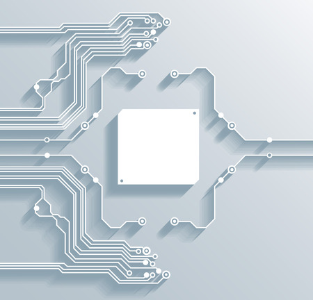 3d circuit board background with a space for your text