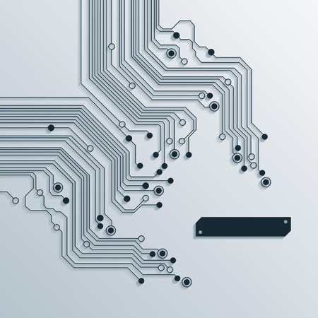 abstract circuit board background texture Stock Illustratie