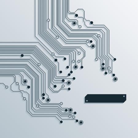 Abstrait texture de fond du circuit du conseil Banque d'images - 34437809