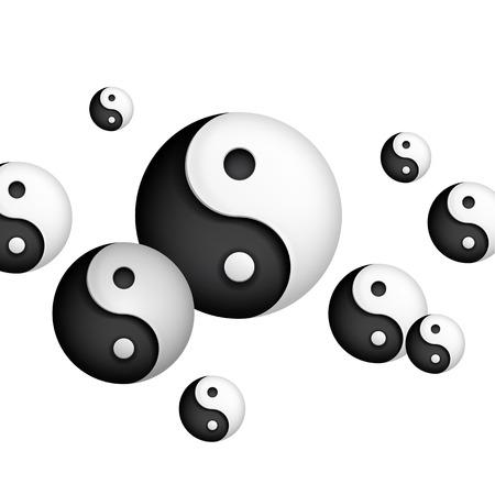 ying yang: yin and yang background Illustration
