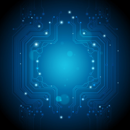 art digital: abstract technology backgrounds blue lights