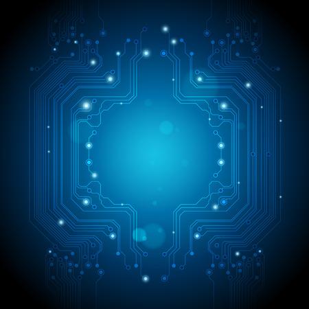 circuitos electronicos: fondos de la tecnolog�a de abstraen las luces azules Vectores