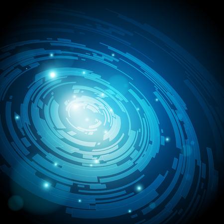 초록: 하이테크 추상 파란색 배경 - 벡터