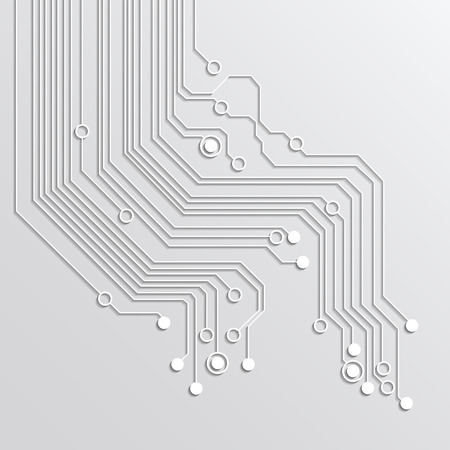 electronic circuit: abstract technology background - silver color