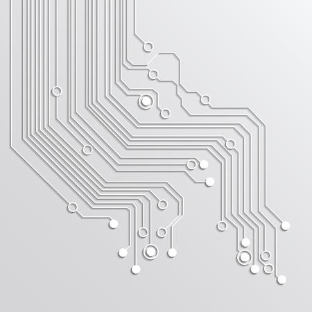 tecnologia: Fundo abstrato da tecnologia - de cor prata Ilustração