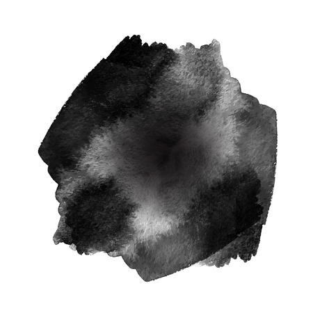 ink stain: grunge black ink stain isolated on white background